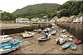 SS7249 : Lynmouth Harbour by Richard Croft