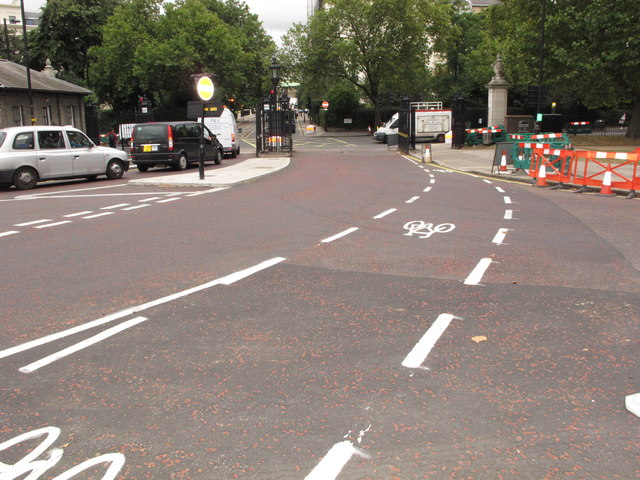 Cycle Superhighway at Victoria Gate, Hyde Park