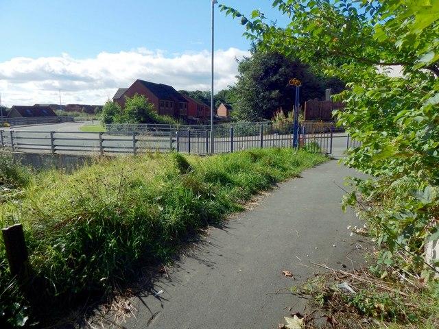 Cycle path at Renton