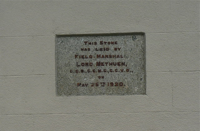 Foundation stone of Northlew Victory Hall