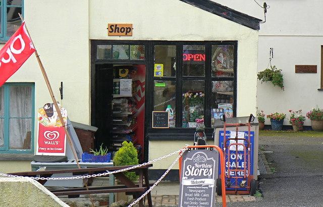 Northlew village shop