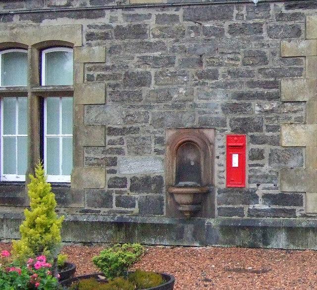 Edward VII postbox and drinking fountain, Kingussie Railway Station