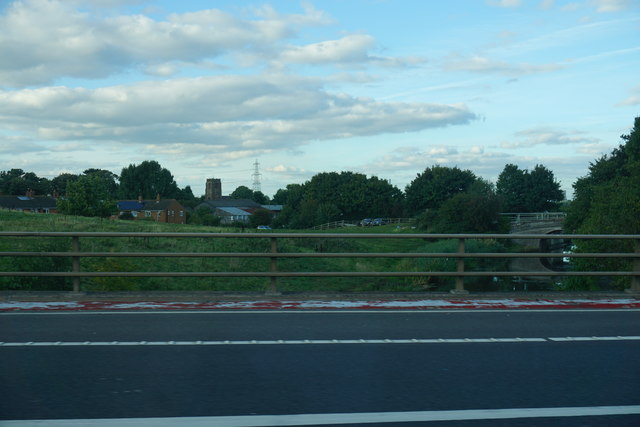 The M56 crossing the Shropshire Union Canal