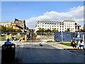 SJ8498 : JCB in Piccadilly Gardens by Gerald England
