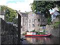 SD9851 : Boat turning below Mill Bridge by Stephen Craven