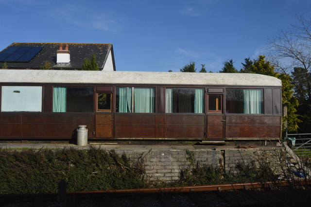 Rail Carriage at Bere Ferrers