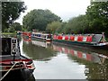 SK2928 : Willington moorings on the Trent & Mersey Canal by Graham Hogg