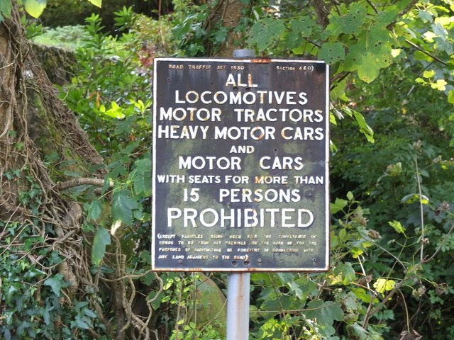 Sign at Women's Institute Car Park at Lee