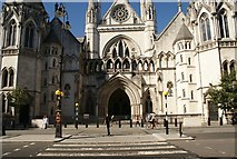 TQ3181 : View of the Royal Courts of Justice from Fleet Street #4 by Robert Lamb