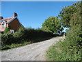 TQ5106 : The Vanguard Way crossing Common Lane by Marathon