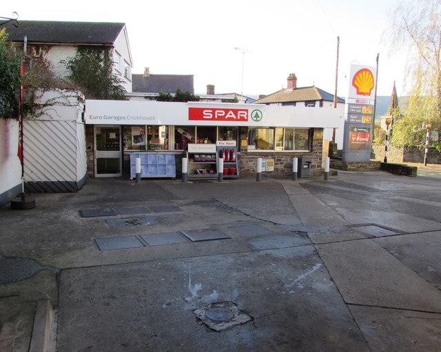 Spar shop, Euro Garages, Crickhowell