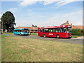 SP8112 : Red Bus, Blue Bus by Des Blenkinsopp
