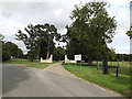 TL9568 : Entrance to Stowlangtoft Hall Nursing Home by Adrian Cable