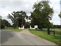 TL9568 : Entrance to Stowlangtoft Hall Nursing Home by Geographer