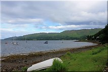 NM8312 : Shoreline by Loch na Cille by Andrew Wood