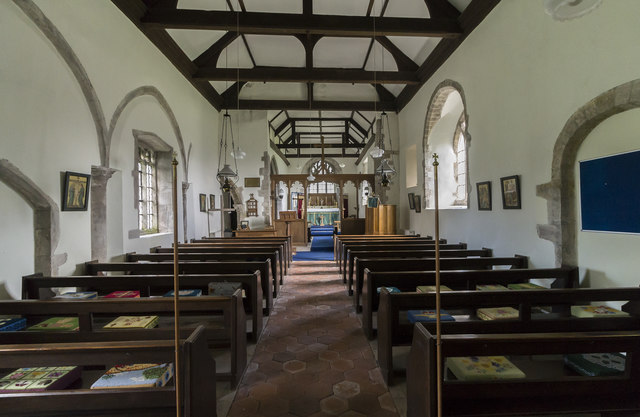 Interior, St Andrew's church, Bonby