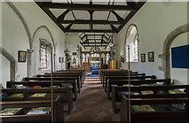 TA0015 : Interior, St Andrew's church, Bonby by J.Hannan-Briggs