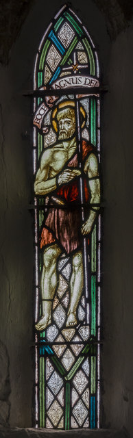 Stained glass window, St Andrew's church, Bonby