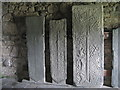 NG0483 : Tomb slabs at St Clement's, Rodel by M J Richardson