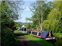 SO8483 : Staffordshire and Worcestershire Canal at Kinver, Staffordshire by Roger  Kidd