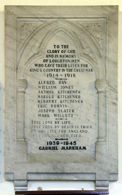 All Saints, Loughton - War Memorial WWI & WWII