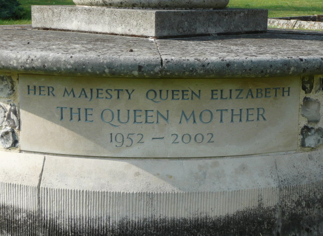 Inscription on the memorial to the Queen Mother, St Paul's Walden