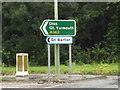 TL8666 : Roadsigns on the A143 Bury Road by Adrian Cable
