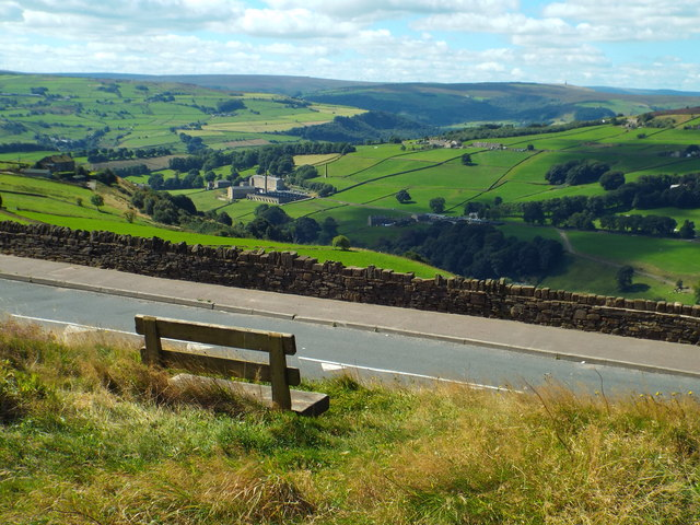 A bench with a view, near Wainstalls