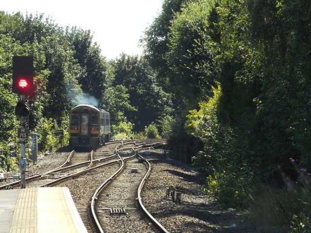 Train leaving Halifax station