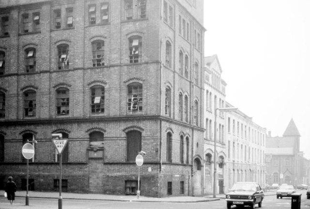 Franklin Street/Adelaide Street corner, Belfast (February 1982)