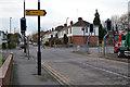 SP3678 : Pointing to The Spires: junction of Second Avenue and Weir Way, Stoke, Coventry by Robin Stott