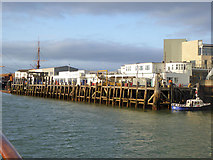 SZ6299 : Portsmouth Harbour station quay by Robin Webster