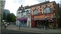 TQ1885 : Shops at the south end of Wembley Hill Road by Christopher Hilton