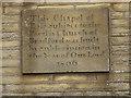 SE1431 : Great Horton Bell Chapel - datestone by Stephen Craven