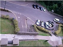 SZ0891 : Bournemouth: looking down on footpath B06 and Braidley Road by Chris Downer