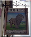 NY2548 : Sign for the Lion public house, Wigton by JThomas