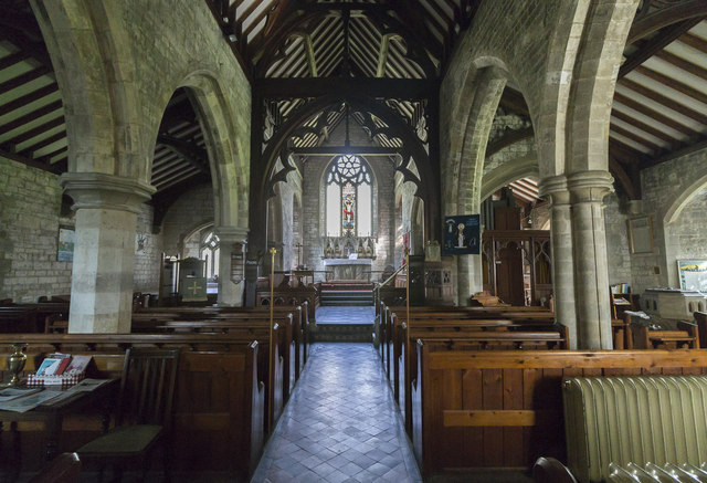 Interior, St Clement's church, Worlaby