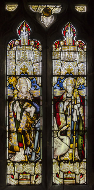 Stained glass window, St Clement's church, Worlaby