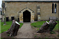 SE4252 : Entrance to St. Michael's Church, Cowthorpe by Chris Heaton