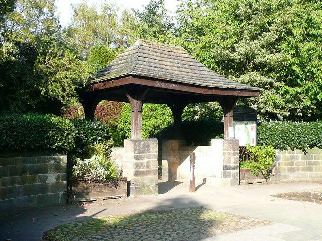 'Lychgate' into Meanwood park, Leeds