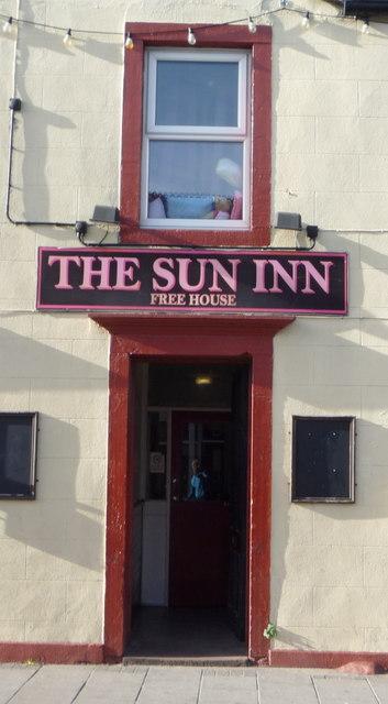 Sign on the Sun Inn, Aspatria
