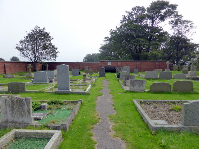 Graveyard at St Oswald's Church, Filey