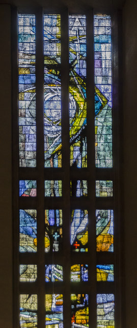 Stained glass window 6 (Upper detail), Coventry Cathedral
