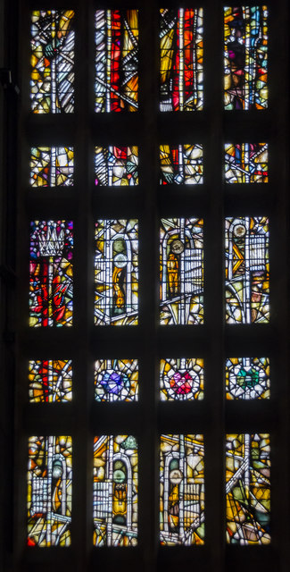 Stained glass window 10 (detail), Coventry Cathedral