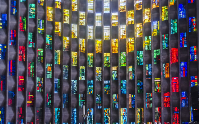 Baptistery window detail, Coventry Cathedral