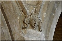 TA0322 : Barton on Humber, St. Mary's Church: Chancel spandrel carving 1 by Michael Garlick