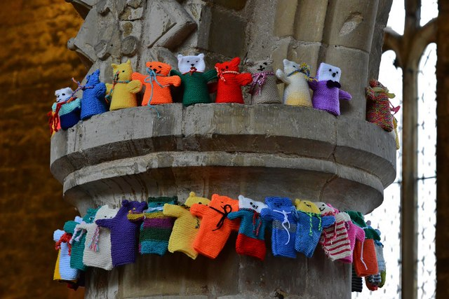 Barton on Humber, St. Mary's Church: The attempt to beat the world record (15,534) for knitted teddy bears 12