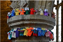 TA0322 : Barton on Humber, St. Mary's Church: The attempt to beat the world record (15,534) for knitted teddy bears 12 by Michael Garlick