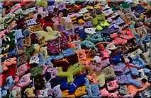 TA0322 : Barton on Humber, St. Mary's Church: The attempt to beat the world record (15,534) for knitted teddy bears 14 by Michael Garlick