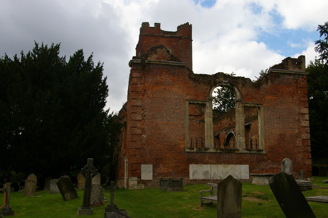 St John the Evangelist, Great Stanmore: the ruined old church